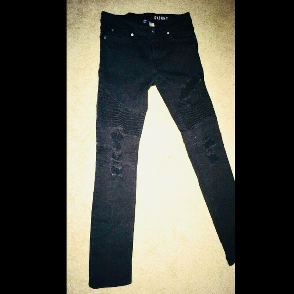 ecfc8c58 H&M Jeans | Hm Mens Black Originally Ripped Size 30 | Poshmark